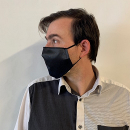 Masque Bleu & Noir Fantaisie Élastique Noir- Traclet