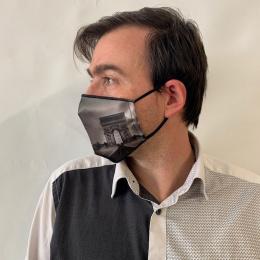 Masque Paris Fantaisie Élastique Noir- Traclet