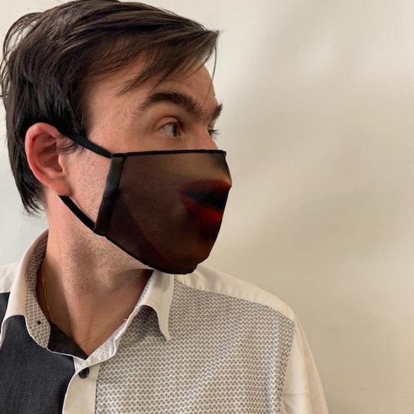 Masque Bouche Fantaisie Élastique Noir- Traclet