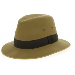Safari Hat Beige Cotton Shaped Fabric - Broswell