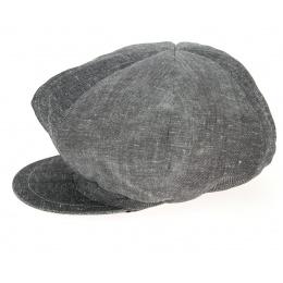 Cap Gavroche Rasta Black Linen - Mtm