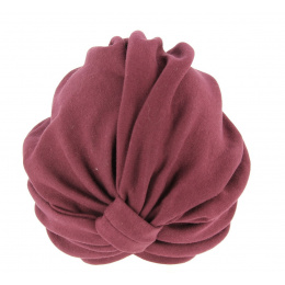 Turban Chemotherapy Cotton Plum- Traclet