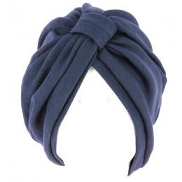 Turban Chimiothérapie Coton Bleu Marine- Traclet