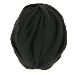 Turban Chimiothérapie Coton Noir- Traclet