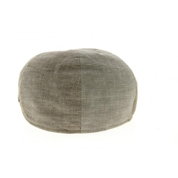 Casquette Bombée Patchwork Lin & Coton Beige- Traclet