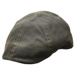 Casquette Plate Merrick Newsboy Marron Coton- Conner Hats