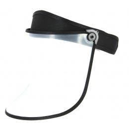Black PVC Face Protector Visor - Traclet