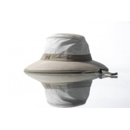 White & Beige Medium Brim Parisian Hat - Soway