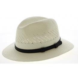 Chapeau Traveller Panama Noto Blanc- Traclet