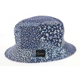 Reversible Bob Blandine Cotton Hat Blue- Crambes