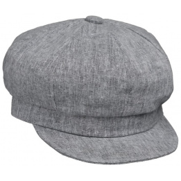 Casquette Gavroche Lin Grise- Traclet