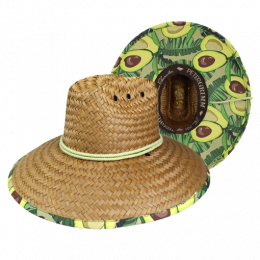 Avocado Traveller Hat Wide Straw Edges- Traclet