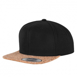 Snapback Cork Black Cap - Traclet
