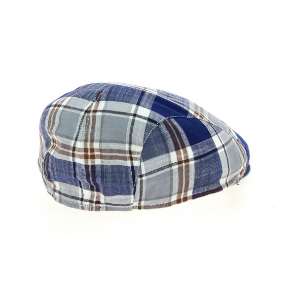 Casquette Plate Teddy Coton Rayure Bleue- Traclet