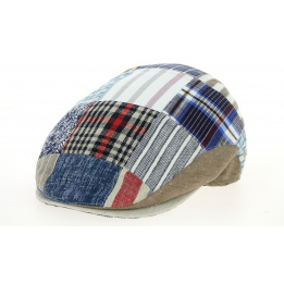 Casquette Plate Amos Patchwork Coton & Lin- Traclet