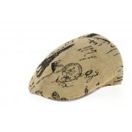 Casquette Bombée Stamp Jute & Coton Naturelle- Traclet