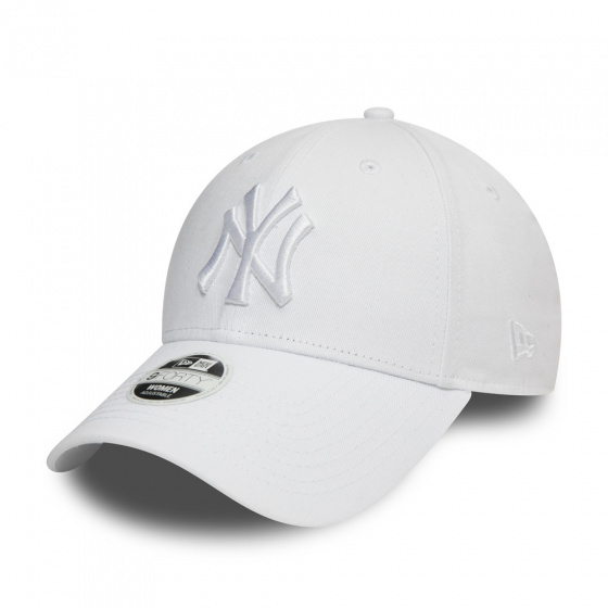 Casquette Baseball Femme NY Yankees Coton Blanche- New Era