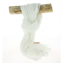 Chèche Torsade Coton White-Traclet