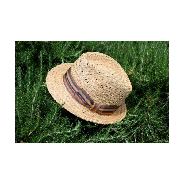 Chapeau Trilby Varadero Paille Naturel - Traclet