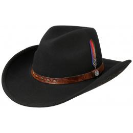 Black Wool Felt Western Hat - Stetson