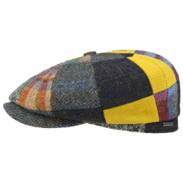 Hatteras Hat Hatteras Patchwork Wool & Cotton Cap - Stetson