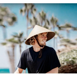 Chapeau Chinois Pyramid Paille Naturelle- Traclet