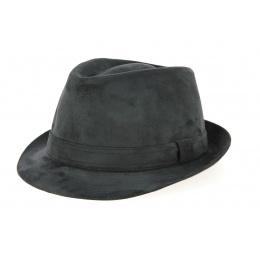 Trilby Imitation Alcantara Hat Black- Crambes