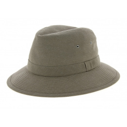 Chapeau Safari Chambray Coton Taupe- Crambes