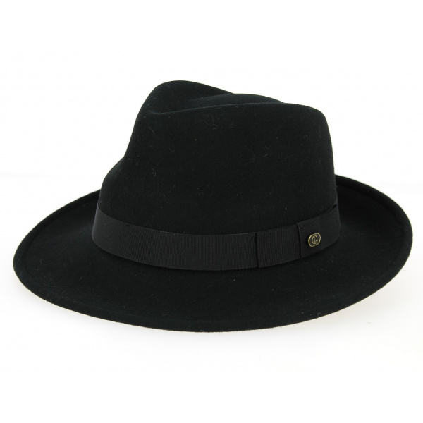 Blues Brothers felt hat wide brim