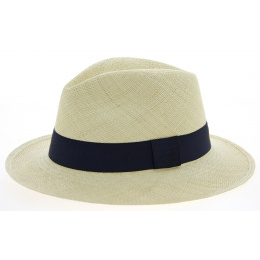 Ambato Panama Hat Natural Straw & Blue - Traclet