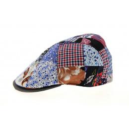 8 Rib Patchwork Cotton & Linen Cap - Traclet