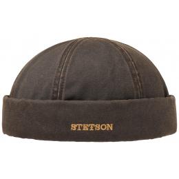 Bonnet Docker Hiver Coton Vieilli Marron- Stetson
