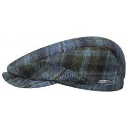 Blue Wool Tile Plate Driver Cap - Stetson