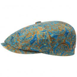 Turquoise velvet baroque hatteras cap -Stetson