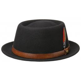 Porkpie Hat Wool Felt Black - Stetson