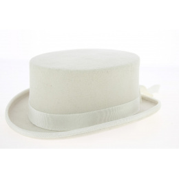 Chapeau demi haut de forme Naturel 10 cm