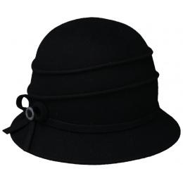 Chapeau Cloche Feutre Christy Noir - Traclet