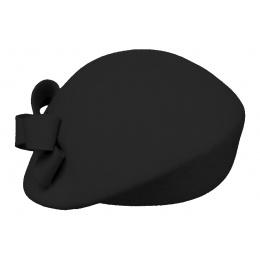 Black Wool Formed Beret- Traclet