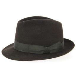 Trilby Felt Hat Brown - Traclet