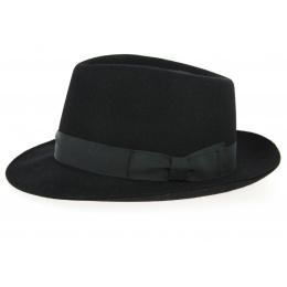 Fedora Felt Hat - Black - Wegener