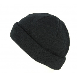 Wool & Acrylic Short Beanie with Reverse Side Wool & Acrylic - Traclet