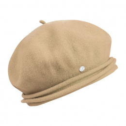 Chopin Wool Sand Beret - Heritage by Laulhère