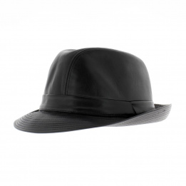 Chapeau cuir style blue's brothers