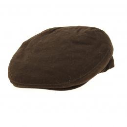Flat brown summer cap ERDEN