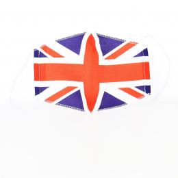 Masque Angleterre Fantaisie Élastique Blanc- Traclet
