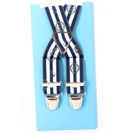 Bretelles Marin Rayure bleu & blanc - Traclet