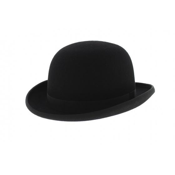 Chapeau Melon Feutre Laine Noir - Traclet