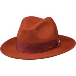 chapeau feutre laine rouille