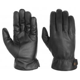 Gants Gloves en cuir Noir - Stetson