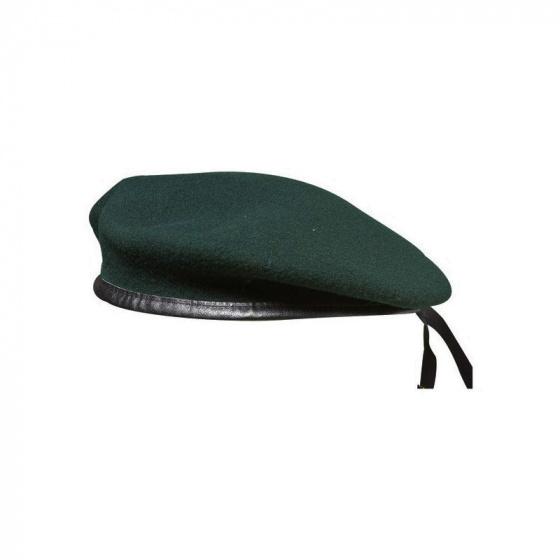 Beret vert fonce commando avec flot special commando